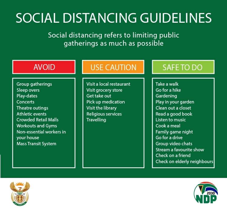 Social distancing guidelines - SA Corona Virus Online Portal