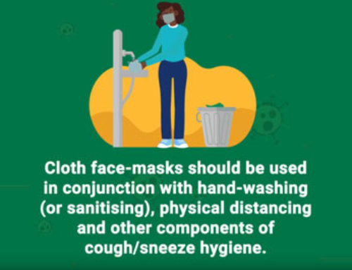 Wear a cloth face mask & make sure you continue other preventative measures like hand-washing and social distancing