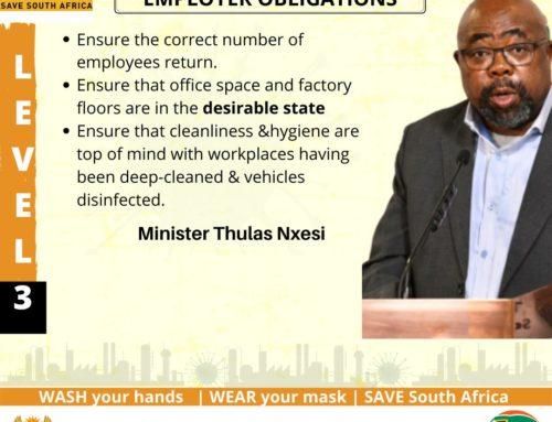 Minister Thulas Nxesi: Economic Cluster Media Briefing on Coronavirus COVID-19 Alert Level 3