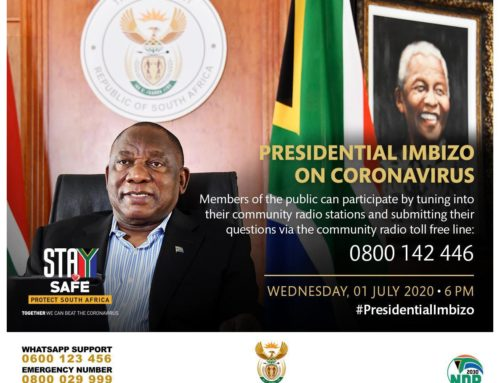 President Cyril Ramaphosa interacts virtually with communities on Coronavirus COVID-19, 1 Jul