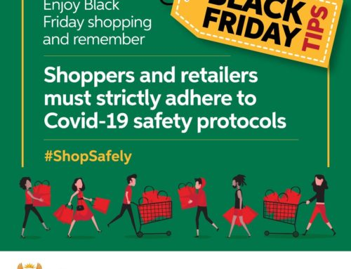 National government's protocols under Lockdown Level 1, ensure your #BlackFriday shopping includes social distancing & face masks