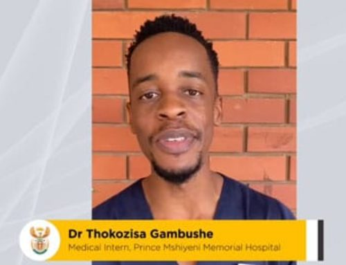 #ListenToTheDoctor Reminding us about the importance of non pharmaceutical interventions as we fight the resurgence of #Covid19 – Dr Thokozisa Gambushe