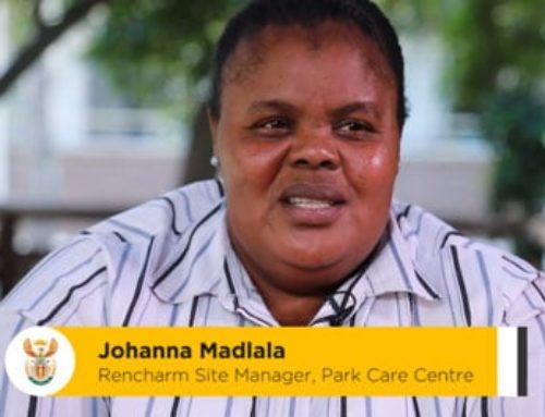 #Celebrate Safe Johanna Madlala works at the Park Care Centre for the elderly and frail in Johannesburg