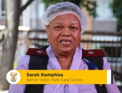 #HealthcareHeroes An important message from Sister Sarah Ramphisa from Park Care Centre in Joburg