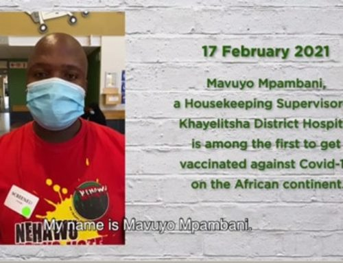 Mavuyo Mpambani was one of the first in the country to receive the #Covid19 vaccine. He's the supervisor of housekeeping at Khayelitsha Hospital