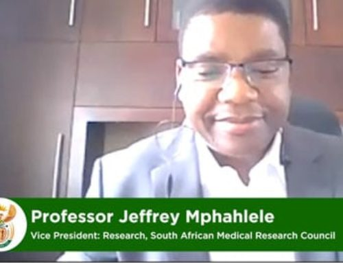 In conversation with Professor Jeffrey Mphahlele, Vice President of the SAMRC