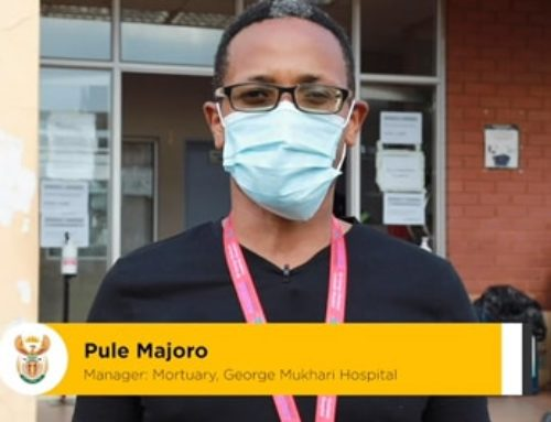 #FromTheFrontlines Pule Majoro, mortuary manager at George Mukhari Hospital