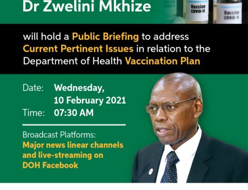 Webinar: Public briefing: Current pertinent issues in relation to the Department of Health vaccination plan