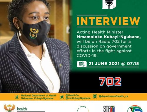 702 Radio: Acting Health Minister Mmamoloko Kubayi-Ngubane to discuss government Covid-19 efforts