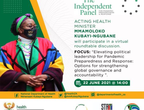The Independent Panel: Acting Health Minister Mmaoloko Kubai-Ngubane to participate in virtual roundtable discussion