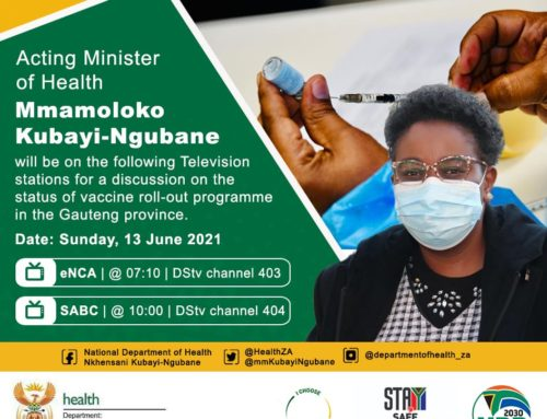 Acting Minister of Health Mmamoloko Kubayi-Ngubane to discuss vaccine roll-out for Gauteng