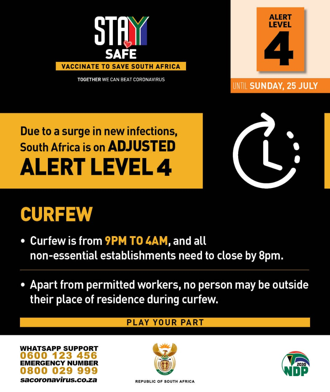 Disaster Management Act Regulations Alert Level 4 During Coronavirus Covid 19 Lockdown As Of 28th June 2021 Sa Corona Virus Online Portal