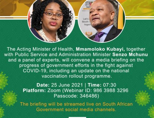 MEDIA ADVISORY  ACTING HEALTH MINISTER LEADS VIRTUAL MEDIA BRIEFING ON COVID-19 UPDATE AND THE VACCINATION ROLLOUT PLAN