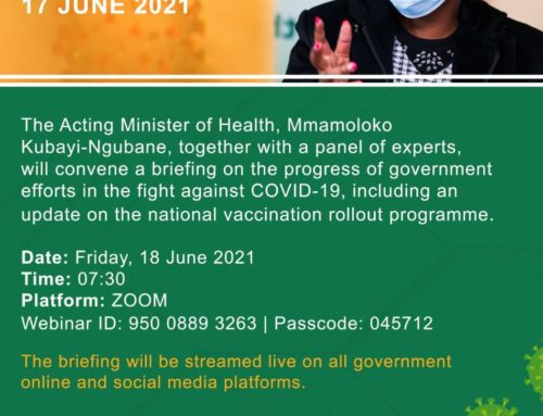 ACTING HEALTH MINISTER LEADS VIRTUAL MEDIA BRIEFING ON COVID-19 UPDATE AND THE VACCINATION ROLLOUT PLAN