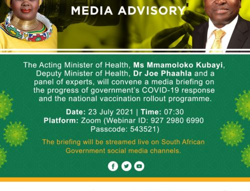 CLOSING REMARKS BY HEALTH DEPUTY MINISTER DR JOE PHAAHLA, FRIDAY 23 JULY 2021