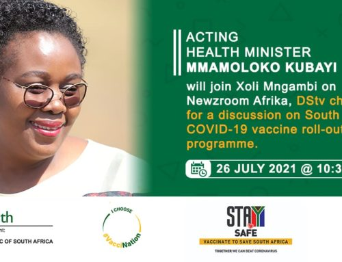Acting Health Minister Mmamoloko Kubayi on Newzroom Afrika to discuss vaccination roll-out