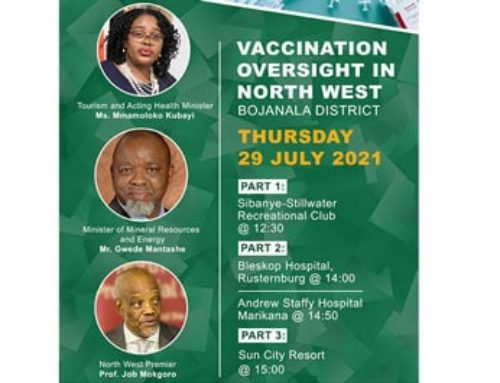 MINISTERS'  KUBAYI AND MANTASHE TO EMBARK ON VACCINATION OVERSIGHT IN NORTH WEST