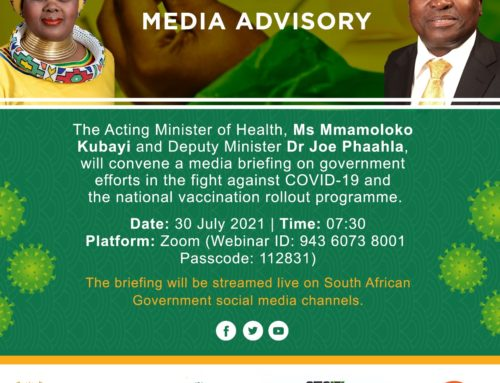 VIRTUAL MEDIA BRIEFING ON COVID-19 AND VACCINATION ROLLOUT PROGRAMME