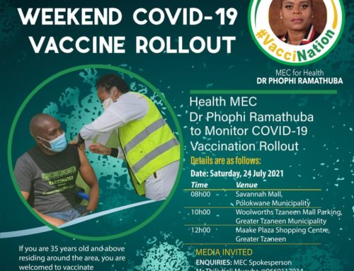 Health MEC Dr Phophi Ramathuba to monitor COVID-19 Vaccination Rollout
