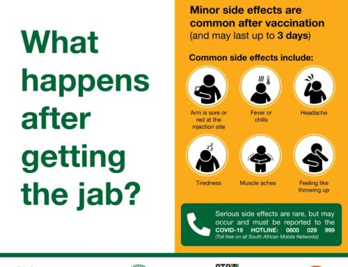 What happens after getting the jab?
